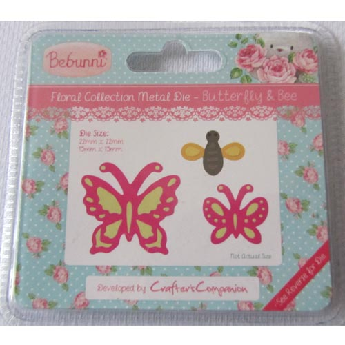 Crafters Companion Bebunni Die - Butterfly & bee