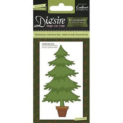 Crafters Companion Die'sire Christmas Classiques - Traditional Christmas Tree