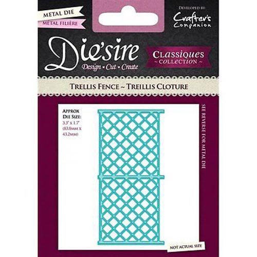 Crafters Companion Die'sire Classiques Spring/Summer Dies - Trellis Fence Die