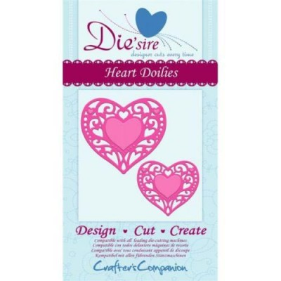 Crafters Companion Die'sire Decorative Die - Heart Doilies Die