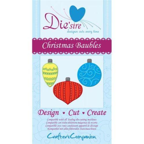 Crafters Companion Die'sire Dies - Christmas Baubles Die