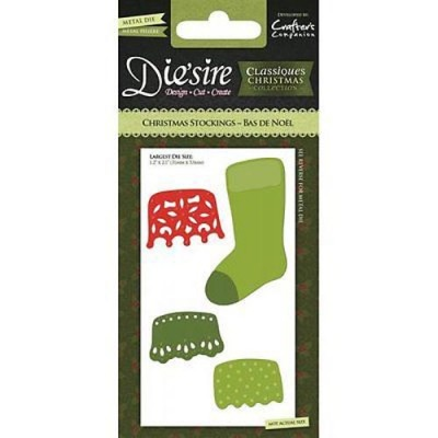 Crafters Companion Die'sire Dies - Christmas Stockings Die Collection