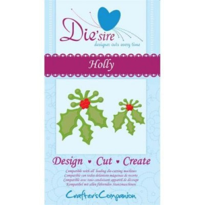 Crafters Companion Die'sire Dies - Holly Die