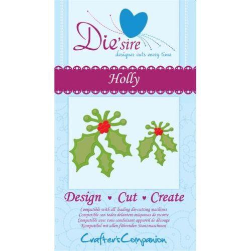 Crafters Companion Die'sire Dies - Holly Die
