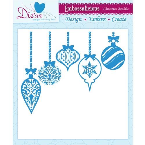 8x8 Embossing Folders Christmas Baubles