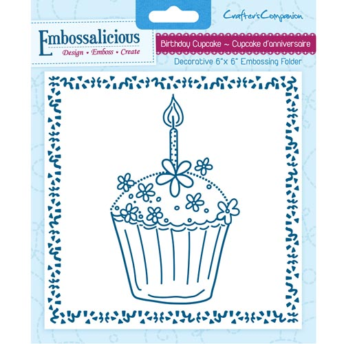 DIE'SIRE EMBOSSALICOUS Birthday Cupcake 6x6 embossing folders