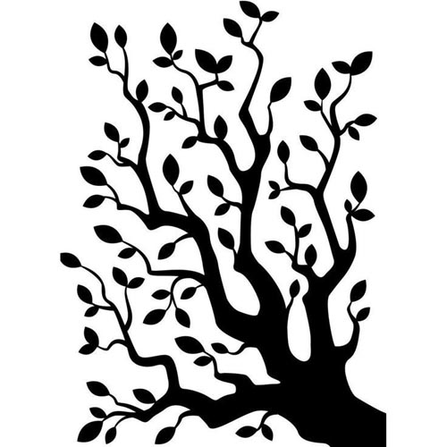 """Darice 4.23"""" x 5.75"""" Embossing Folder - Branch With Leaves"""