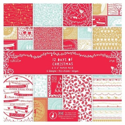 Docrafts 12 Days of Christmas 6x6 Paper Pack