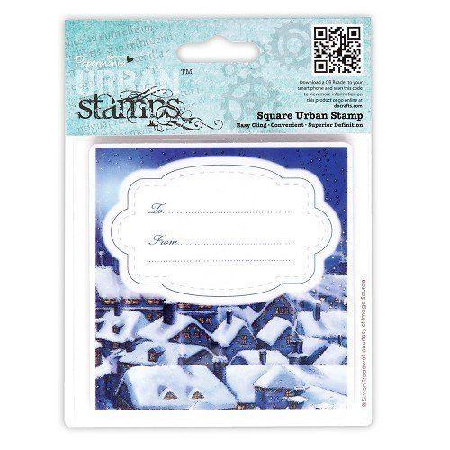 """Docrafts 4x4"""" Urban Stamp Silent Night"""