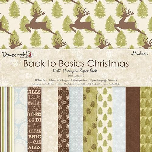 Dovecraft Back To Basics Christmas Modern 8x8 Paper Pack