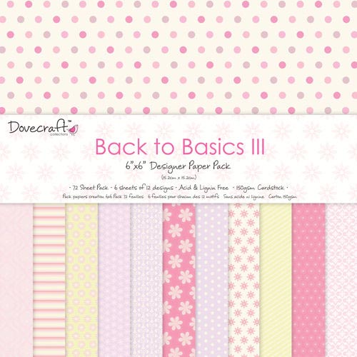 Dovecraft Back to Basics III 6x6 Paper Pack