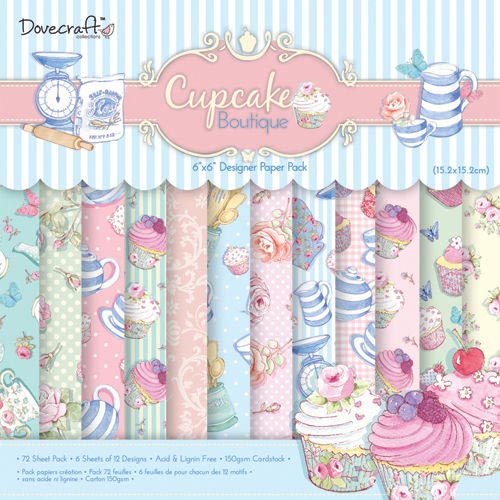 Dovecraft Cupcake Boutique 6x6 Paper Pack