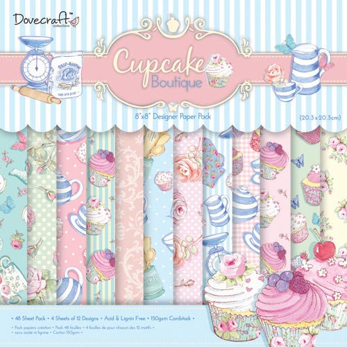 Dovecraft Cupcake Boutique 8x8 Paper Pack