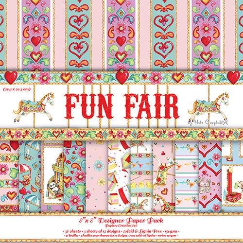 Dovecraft Fun Fair 8x8 Paper Pack