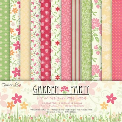 Dovecraft Garden Party 6x6 Paper Pack