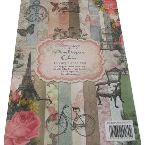 Hunkydory Antique Chic Luxury A4 Speciality Paper Pad