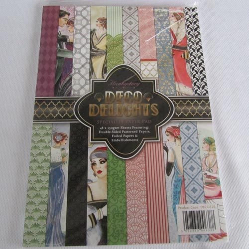 Hunkydory Deco Delights - A4 Speciality Paper Pad