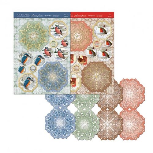 Hunkydory Festive Birds Of Britain Snowflake Easel Card Kit