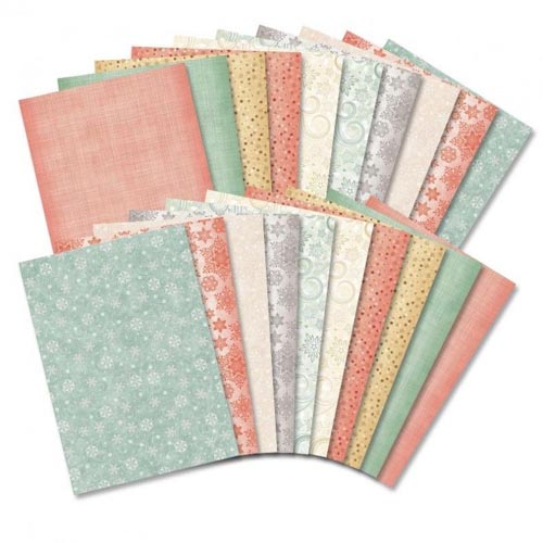 Hunkydory Festive Pearly Patterned Cardstock