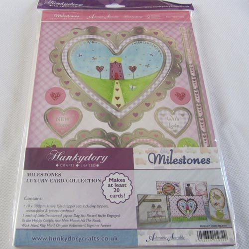 Hunkydory Milestones Luxury Card Collection