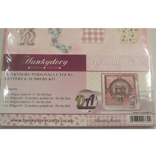 Hunkydory Personally Yours Letters & Numbers Kit
