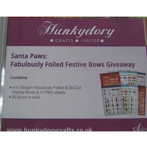 Hunkydory Santa Paws Festive Bows