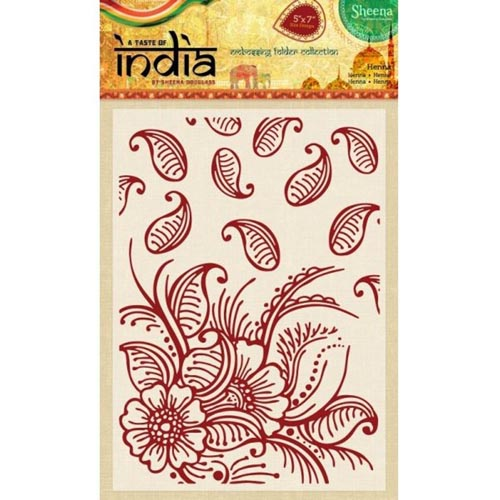 Sheena Douglass A Taste of India Embossing Folders - Henna