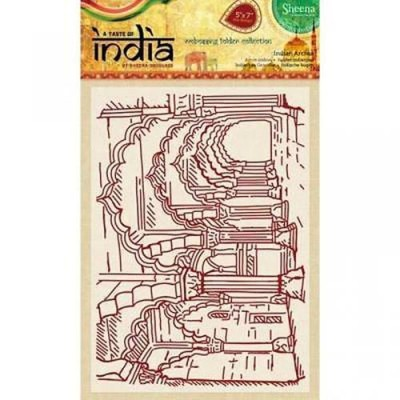 "Sheena Douglass 5"" x 7"" A Taste of India Embossing Folders - Indian Arches"