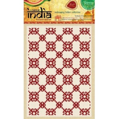 "Sheena Douglass 5"" x 7"" A Taste of India Embossing Folders - Indian Ornate"