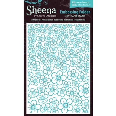 "Sheena Douglass 5"" x 7"" Embossing Folders - PETITE FLORAL"