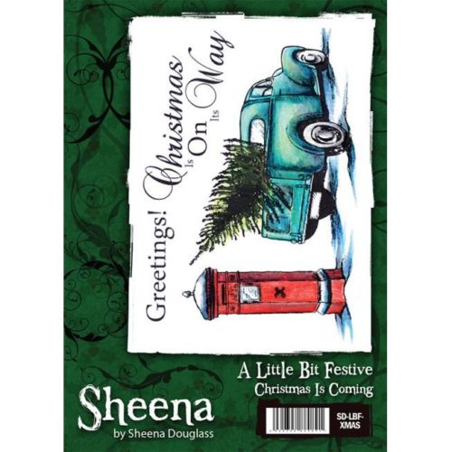 Sheena Douglass A little Bit Festive A6 Rubber Stamp - Christmas Is Coming