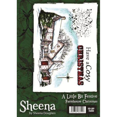 Sheena Douglass A little Bit Festive A6 Rubber Stamp - Farmhouse Christmas