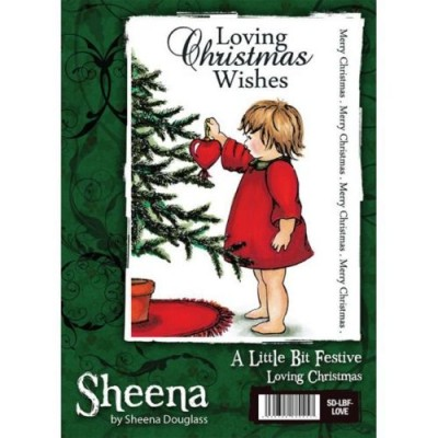 Sheena Douglass A little Bit Festive A6 Rubber Stamp - Loving Christmas