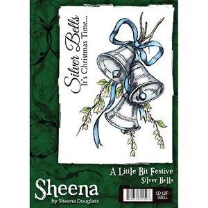 Sheena Douglass A little Bit Festive A6 Rubber Stamp - Silver Bells