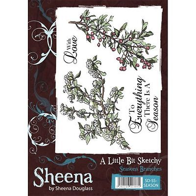 Sheena Douglass A little Bit Sketchy A6 Rubber Stamp - Seasons Branches