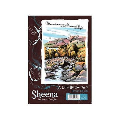 Sheena Douglass A little Bit Sketchy A6 Rubber Stamp - Stream of Life