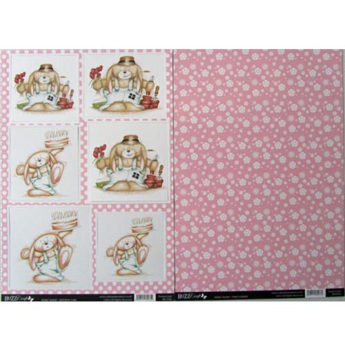 Buzzcraft Honey Bunny - Birthday Cake 2 Sheet Set