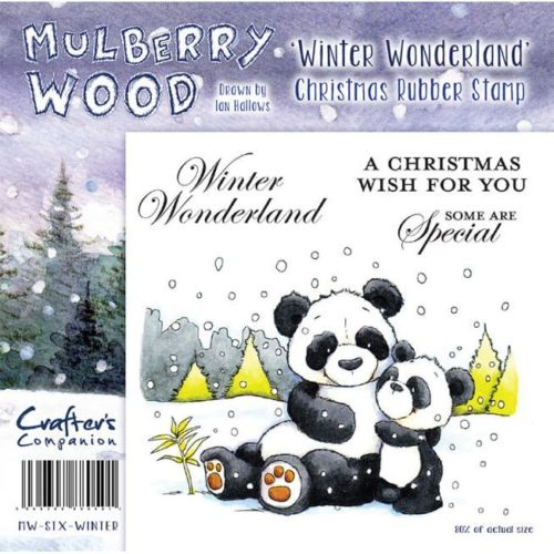 Crafters Companion Christmas Mulberry Wood Winter Wonderland Rubber Stamp Set