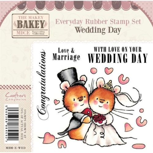 CRAFTERS COMPANION MAKEY BAKEY MICE - WEDDING DAY STAMP SET