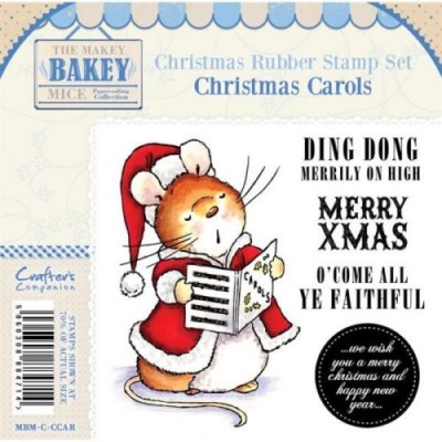 Crafters Companion Makey Bakey Christmas Carols Rubber Stamp Set