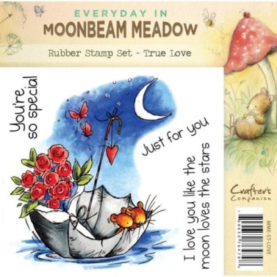 Crafters Companion Moonbeam Meadow True Love Rubber Stamp Set