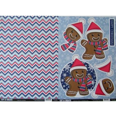 Craftstyle Products Cut & Create - Christmas Friends 2 Sheet Set - Gingerbread Man