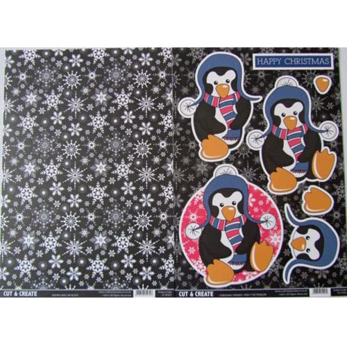 Craftstyle Products Cut & Create - Christmas Friends 2 Sheet Set - Percy The Penguin