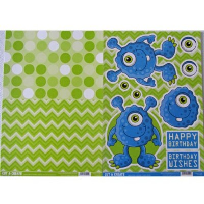 This Monsters & Aliens Collection is perfect for adults and children alike they are in some really fun design that will go great on you Halloween cards. They are non die-cut so you will need to cut each element out but the thick key-line around each part makes this easier.
