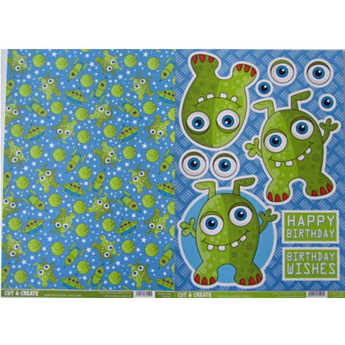 Craftstyle Products Cut & Create - Monsters & Aliens - Alien Al