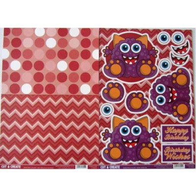 Craftstyle Products Cut & Create - Monsters & Aliens - Berry Monster