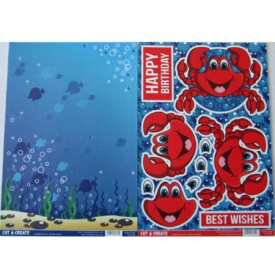 Craftstyle Products - Cut & Create - UNDER THE SEA - Happy Snapper
