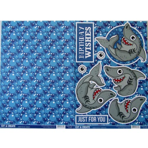 Craftstyle Products - Cut & Create - UNDER THE SEA - Shark Tale 2 Sheet Set