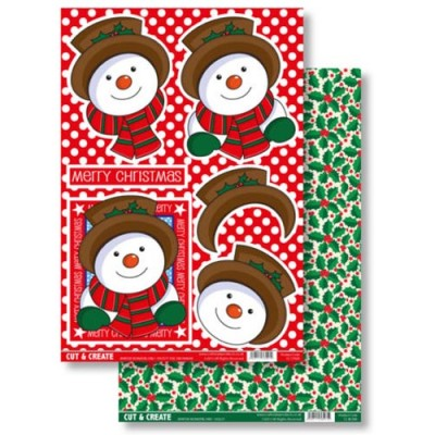 Craftstyle Products Cut & Create - Winter Wonderland - Frosty The Snowman