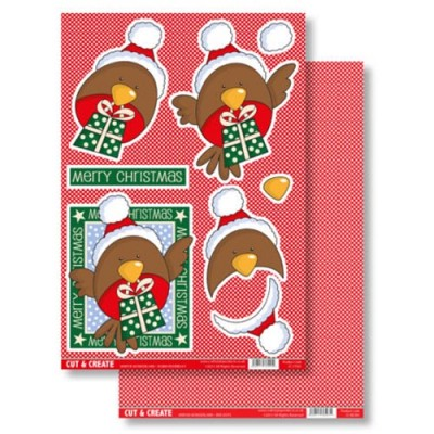 Craftstyle Products Cut & Create - Winter Wonderland - Robin Redbreast